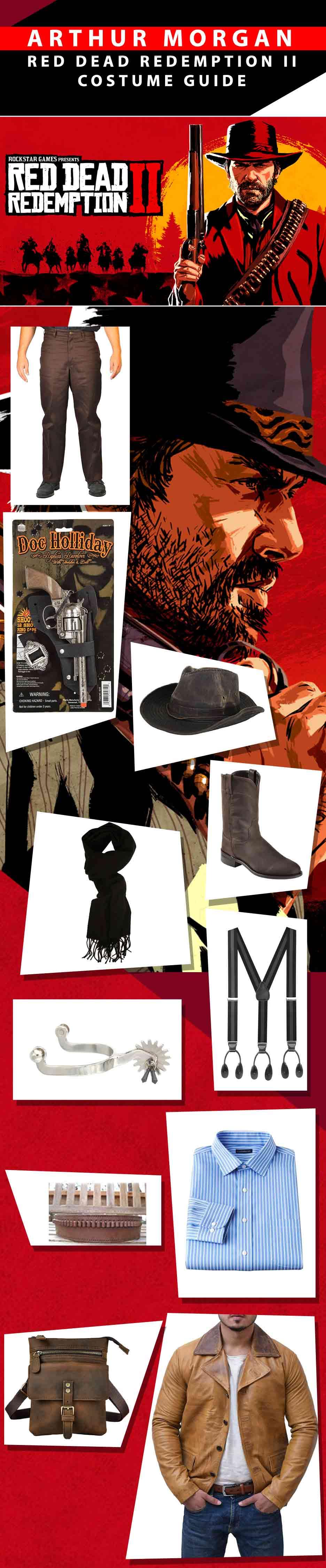 Arthur Morgan Red Dead Redemption Ii Costume Guide