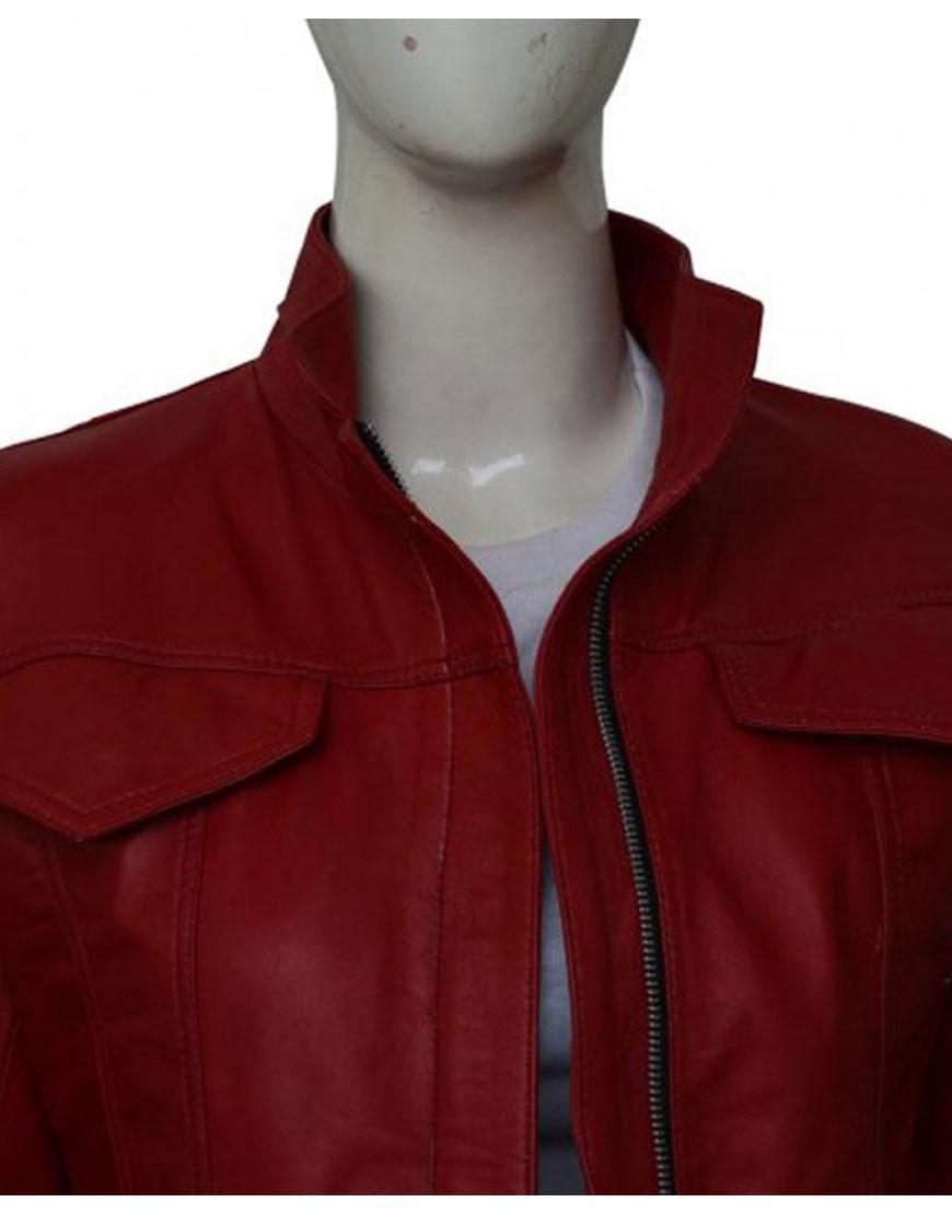 Once Upon a Time Season 6 Jennifer Morrison Red Leather Jacket