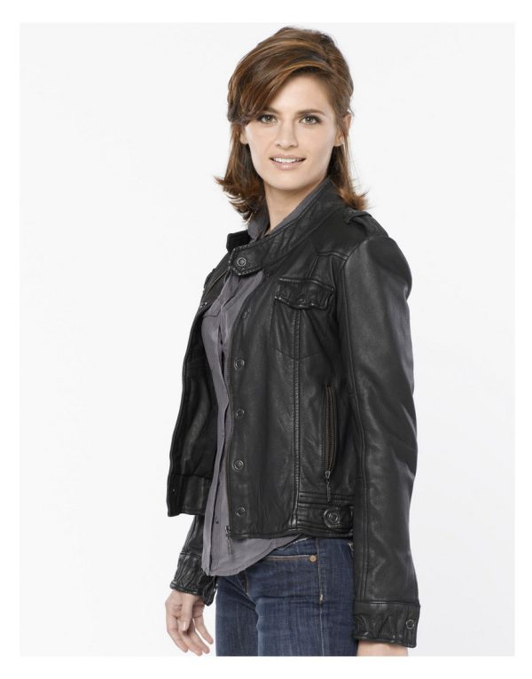 stana-katic-castle-black-leather-jacket