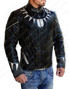 Chadwick Boseman leather jacket