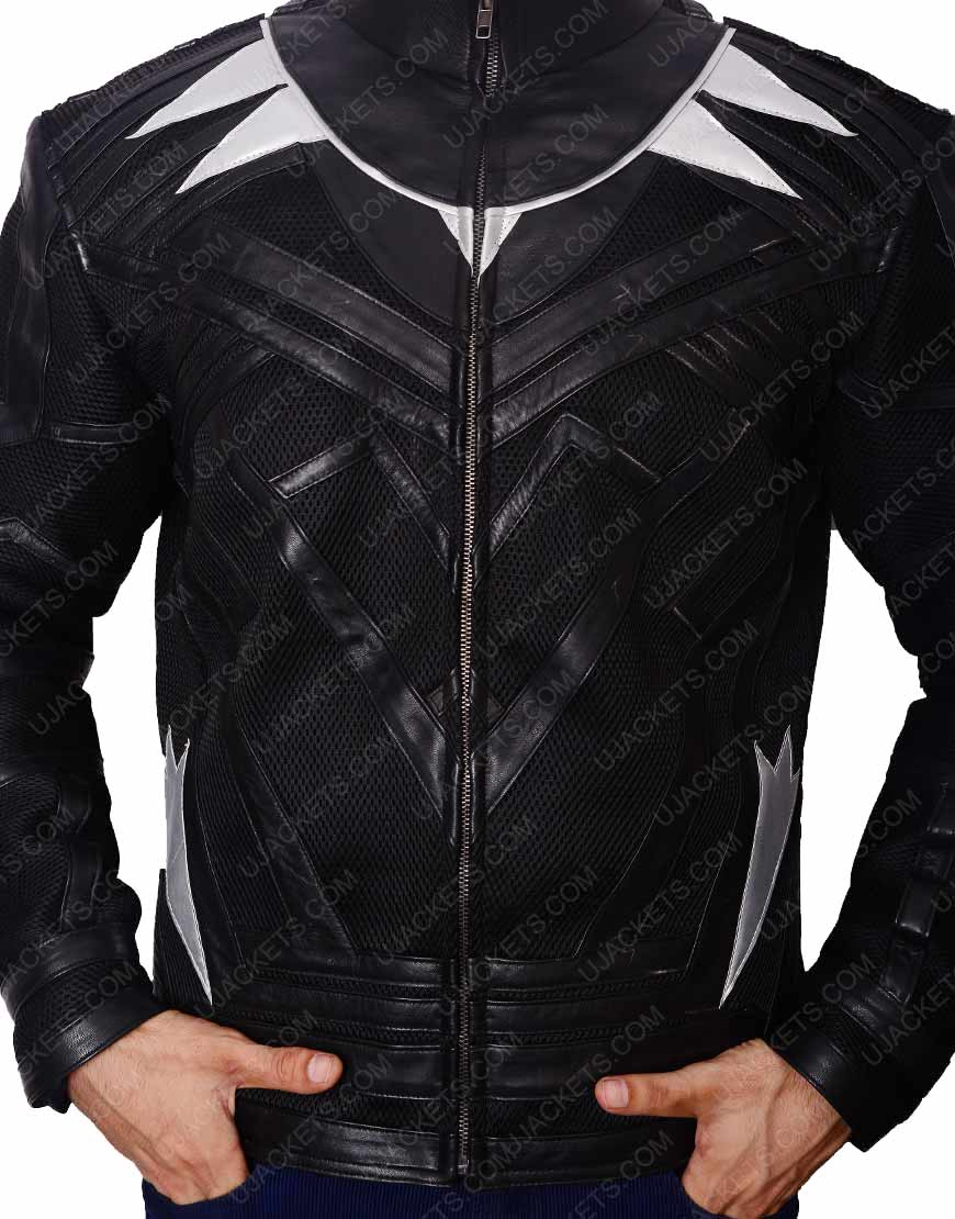 black panther leather black jacket