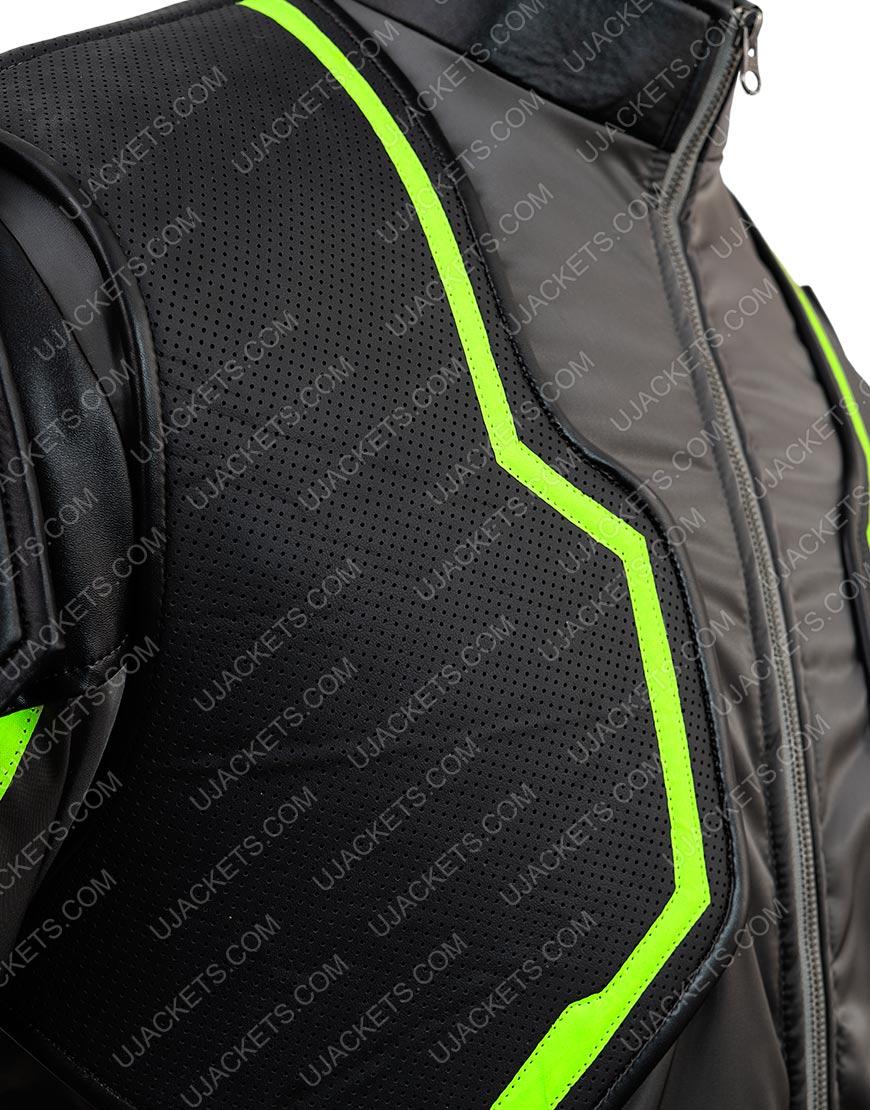 Bane Green Black Leather Jacket Injustice 2