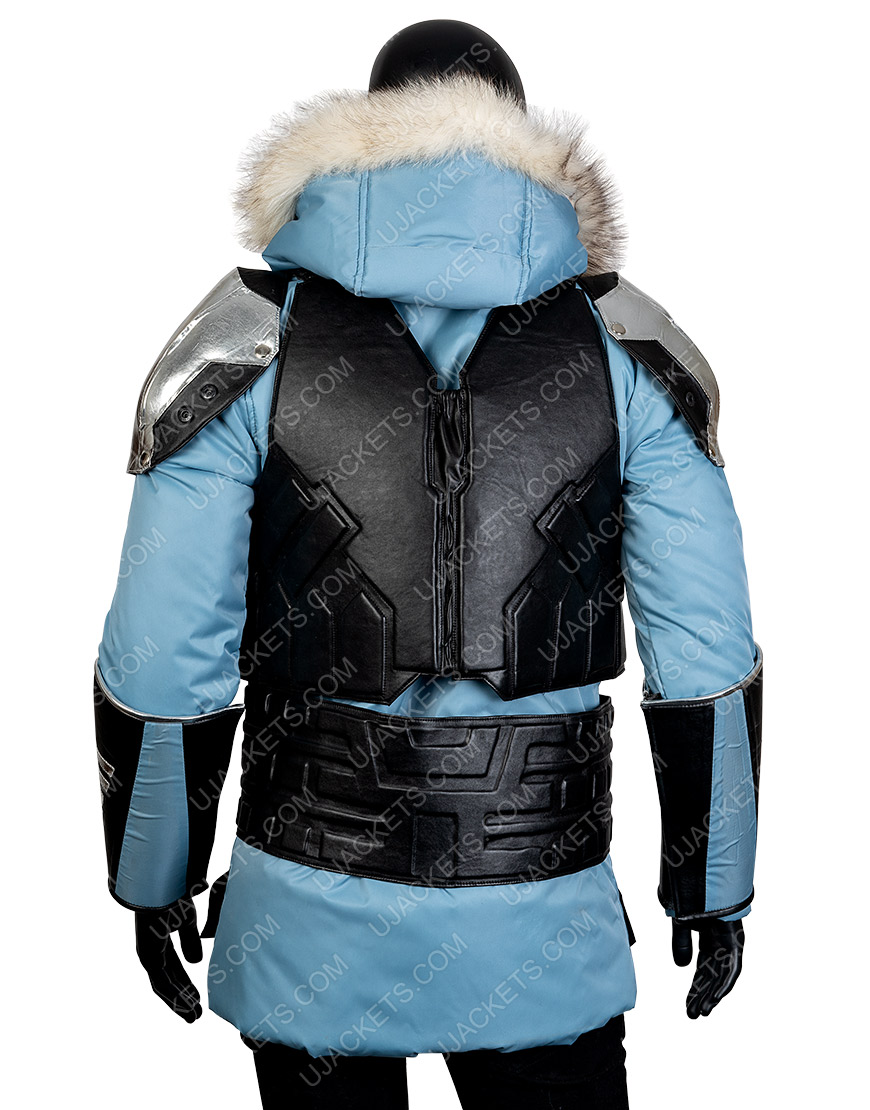 Injustice 2 Captain Cold Leather Hooded Jacket