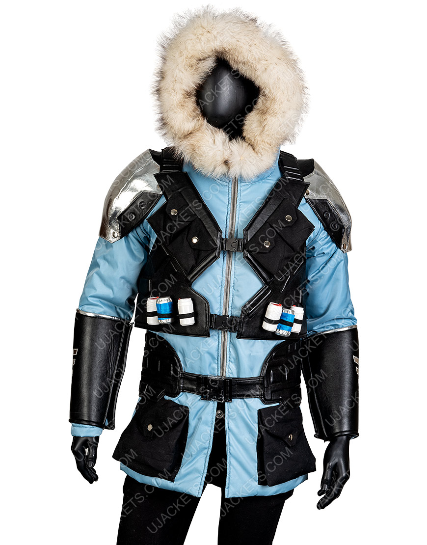Injustice 2 Video Game Captain Cold Leather Hooded Jacket