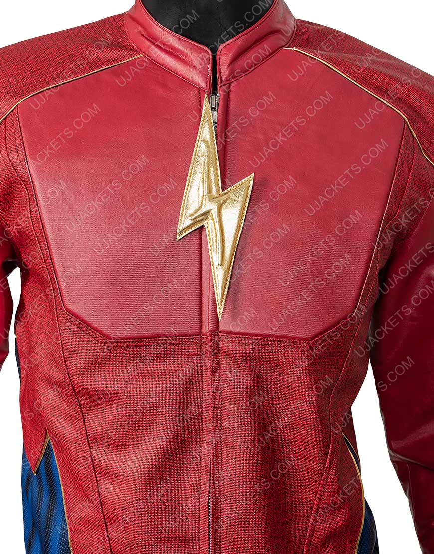 Jay Garrick The Flash Season 3 Burgundy and Black Jacket