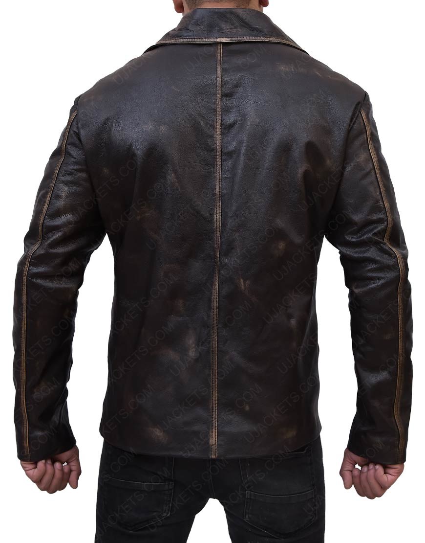 Supernatural Distressed Brown Leather Jacket