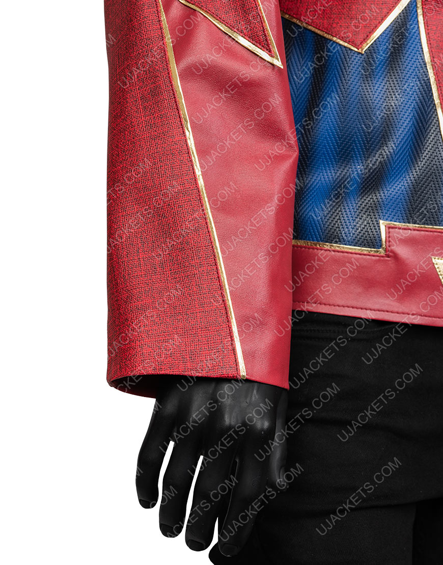 Jay Garrick The Flash Burgundy and Black Jacket