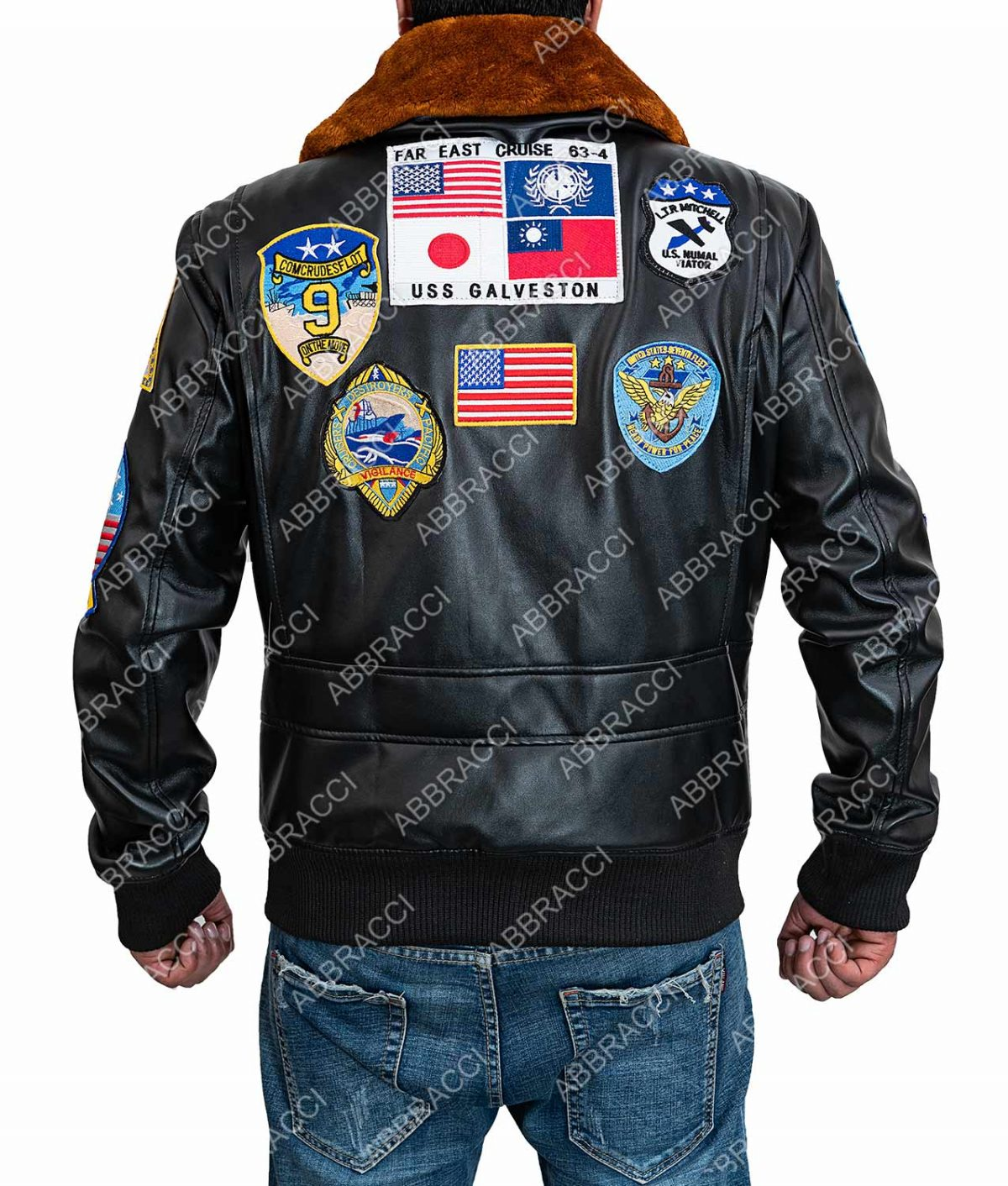 Tom Cruise Top Gun Maverick Brown Leather Jacket