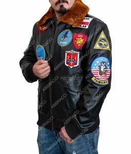 Tom Cruise Top Gun Maverick Leather Bomber Jacket