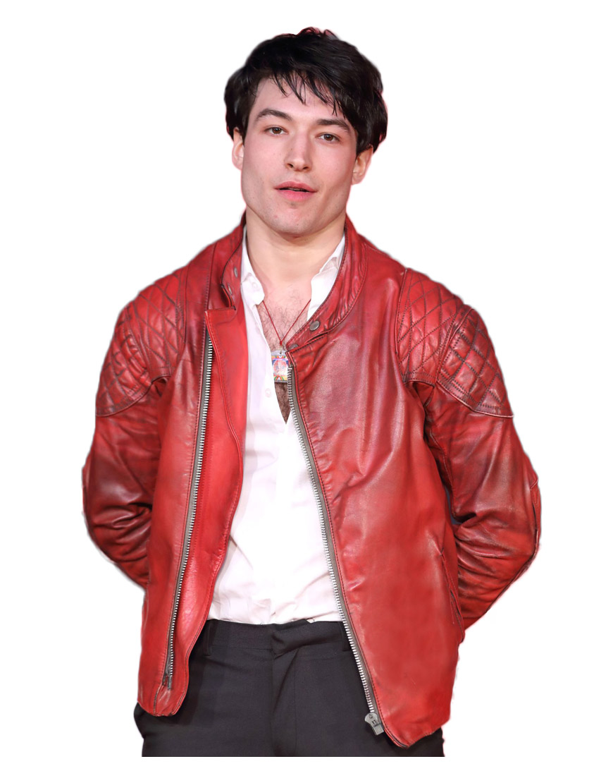 ezra-miller-red-leather-jacket