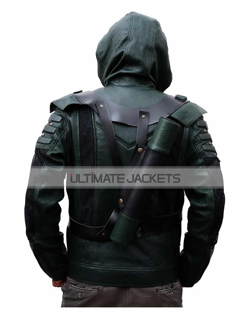 green-arrow-seasons-6-leather-jacket