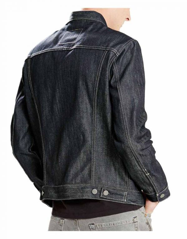 mens-casual-black-jean-jacket