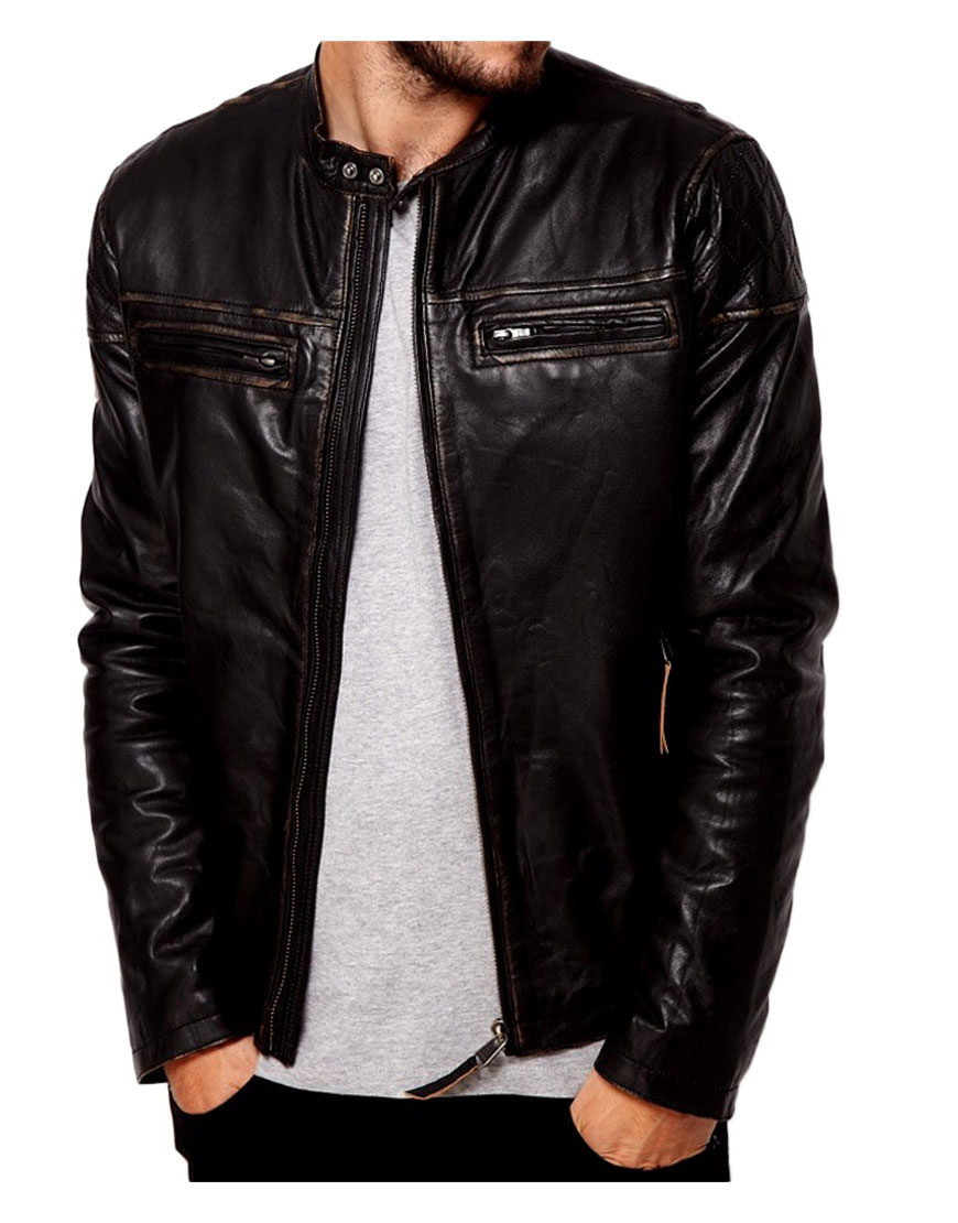 mens-dark-brown-leather-jacket