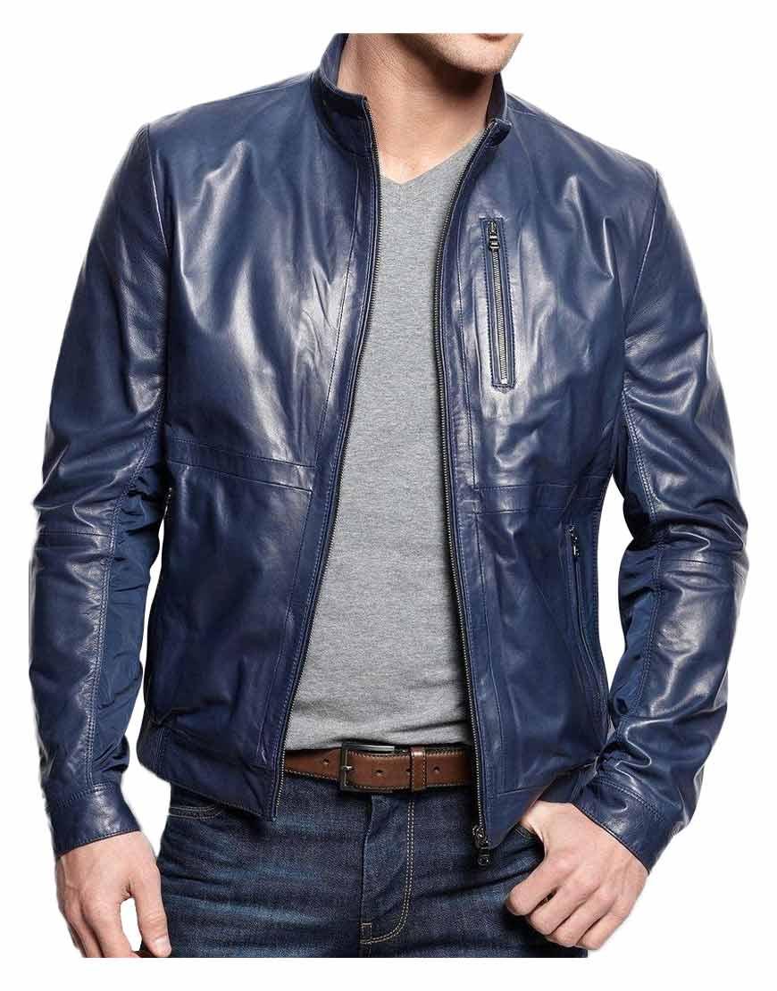 mens-navy-blue-leather-jacket
