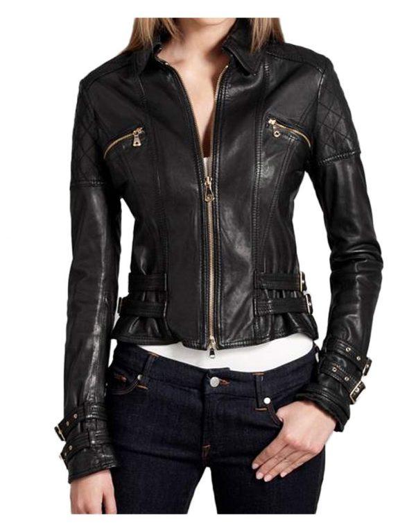 womens-black-leather-biker-jacket