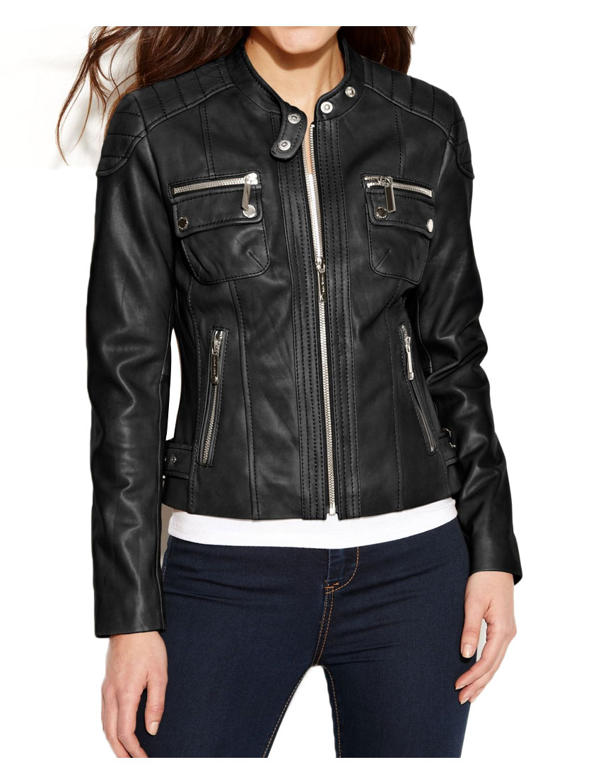 womens-black-leather-biker-jacket