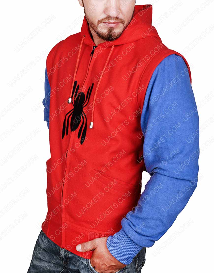 Peter Parker Hoodie with Sleeves