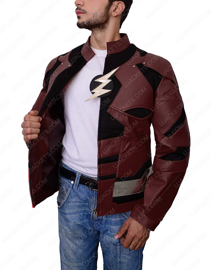 he flash justice league leather jacket