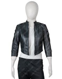 Arrow Season 5 Black Canary Black Leather Jacket