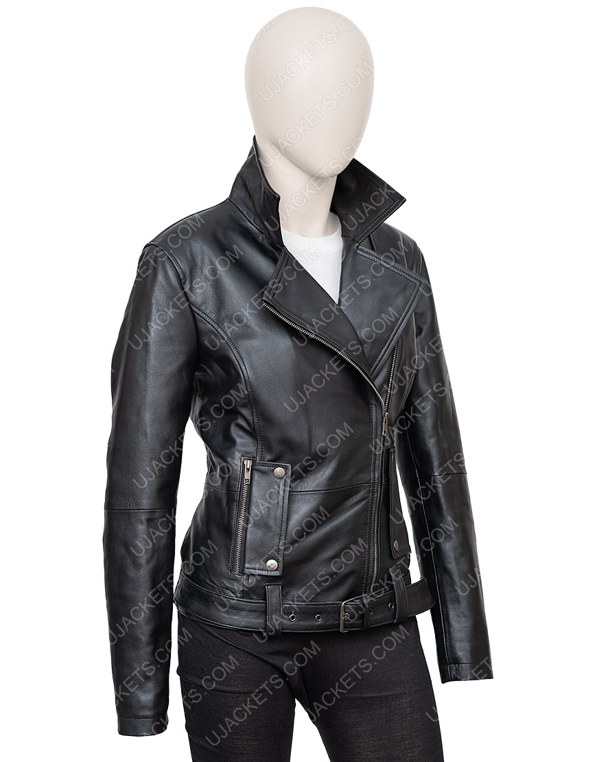 In The Fade Katja Sekerci Cotton and Leather Jacket