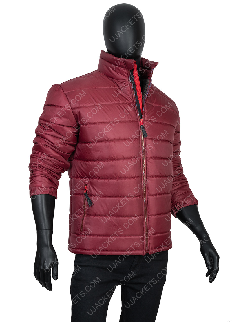 Men's Quilted Parachute Fabric Down Puffer Jacket