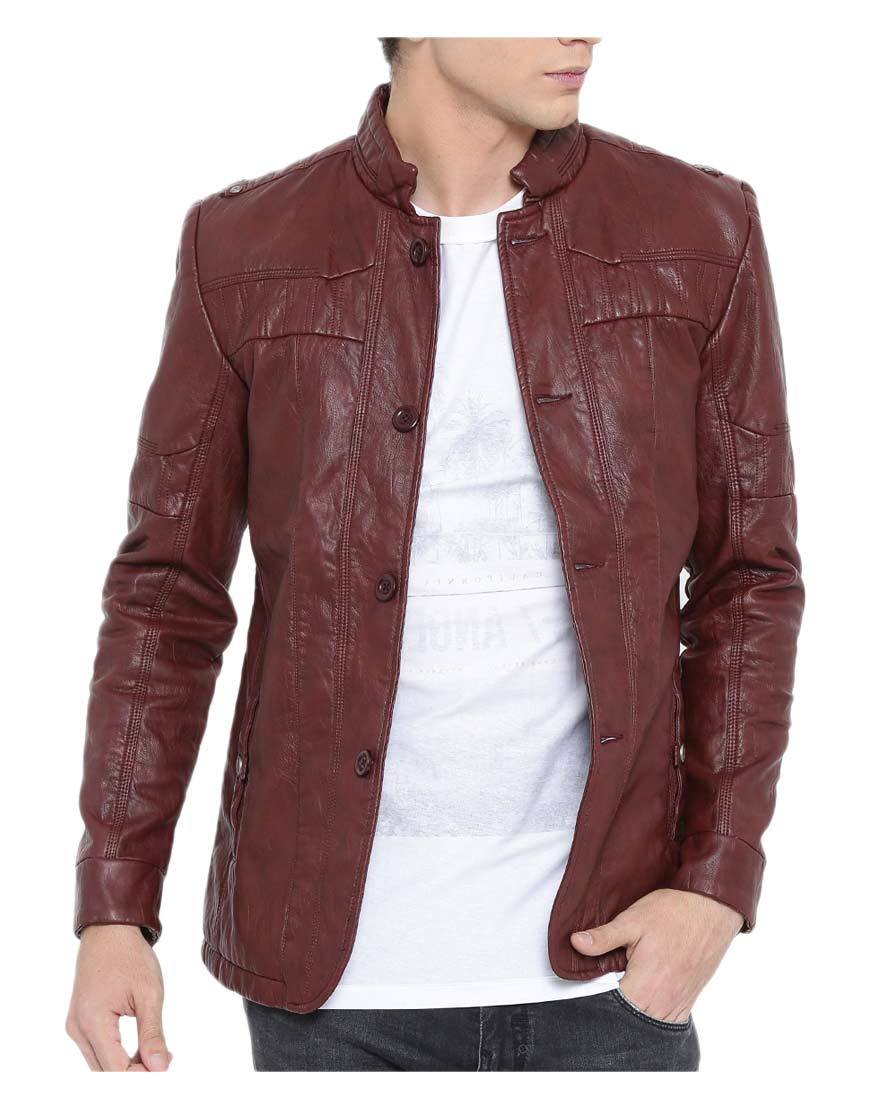 burgundy-faux-leather-jacket