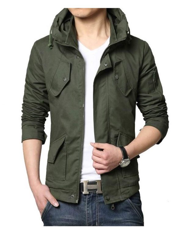 9f96b825e95 Men s Casual Wear Military Green Spring Jacket