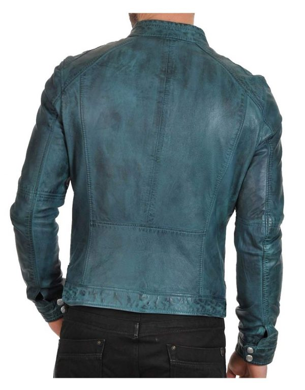 mens-waxed-green-leather-jacket