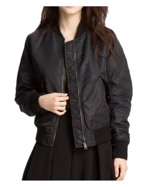 women's-black-bomber-jacket