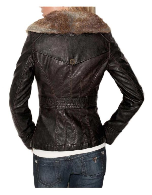 womens-brown-faux-leather-jacket