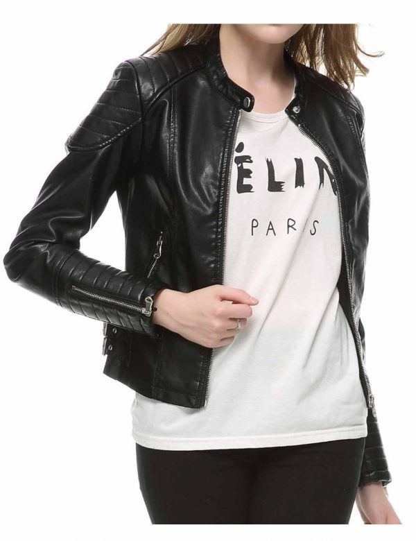womens-faux-leather-biker-black-jacket