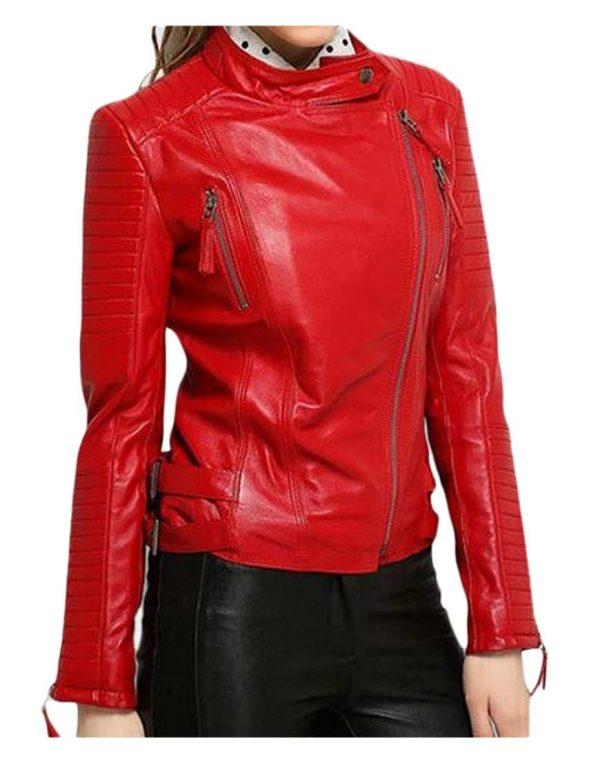womens-red-leather-biker-jacket