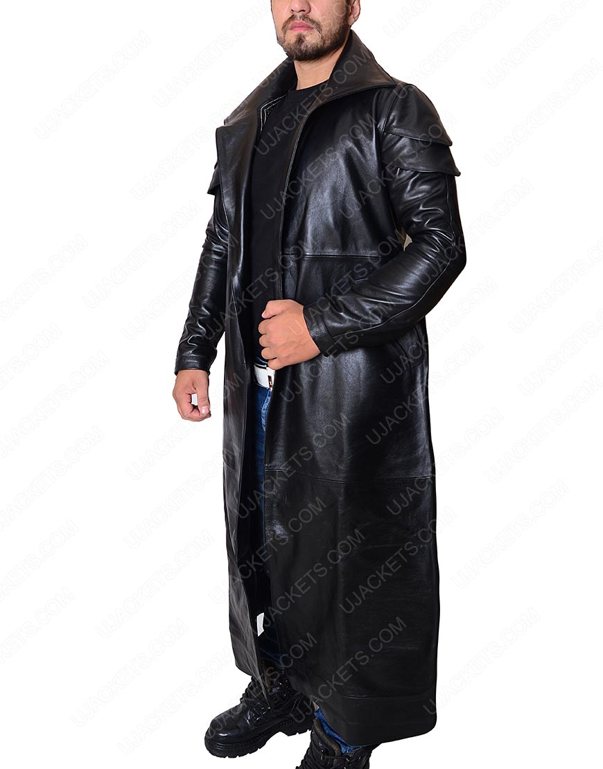 star wars the last jedi dj leather coat