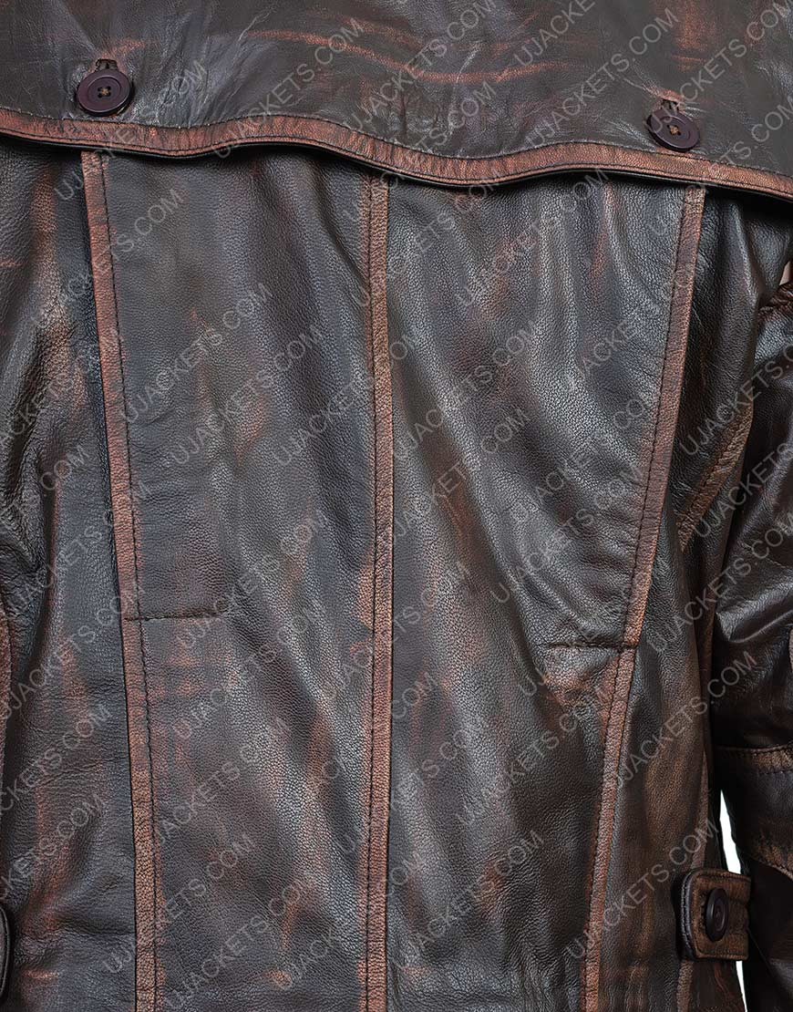 Defiance Grant Bowler Waxed Leather Jacket