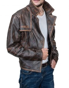Joshua Nolan Defiance Grant Bowler Leather Jacket