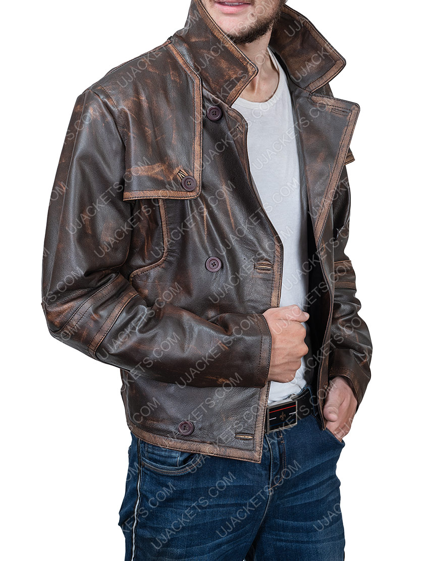 Joshua Nolan Defiance Grant Bowler Leather Jacket