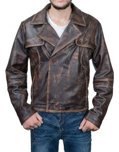 Joshua Nolan Defiance Grant Bowler Waxed Leather Jacket