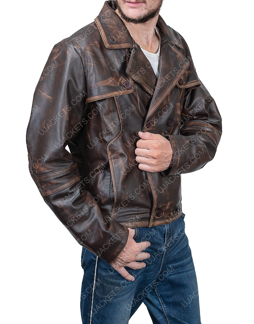 Joshua Nolan Defiance Grant Waxed Leather Jacket