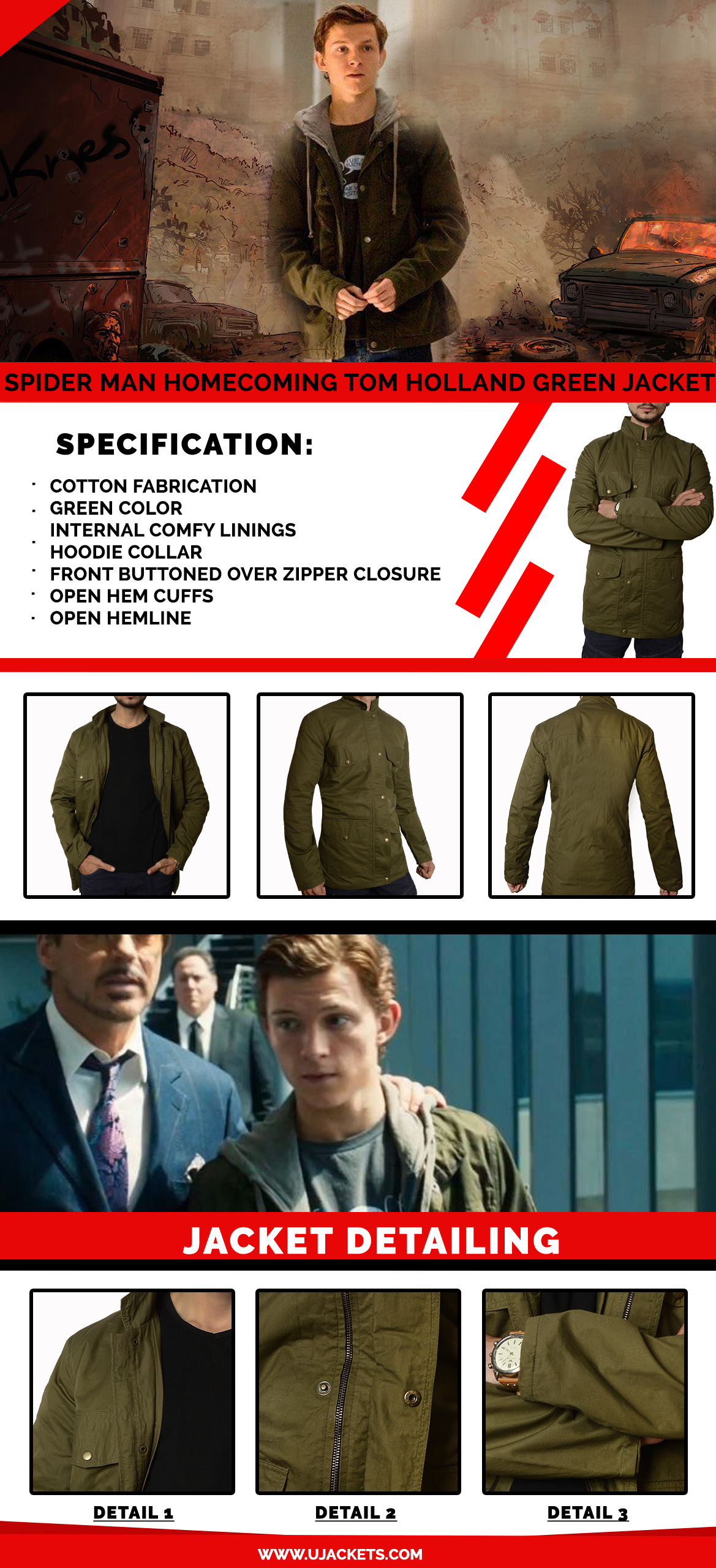 Spider-Man-Homecoming-Tom-Holland-Green-Jacket