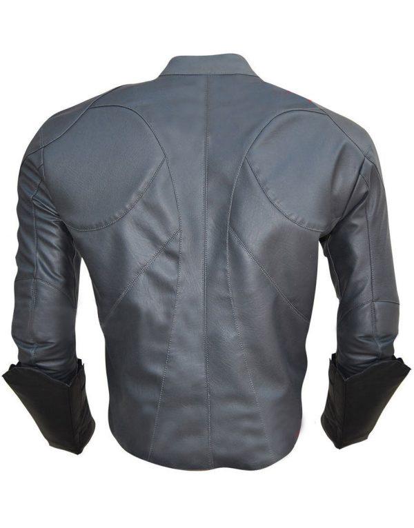 Batman Beyond Bruce Wayne Arkham Dark Knight V2 Full Black Faux Leather Jacket