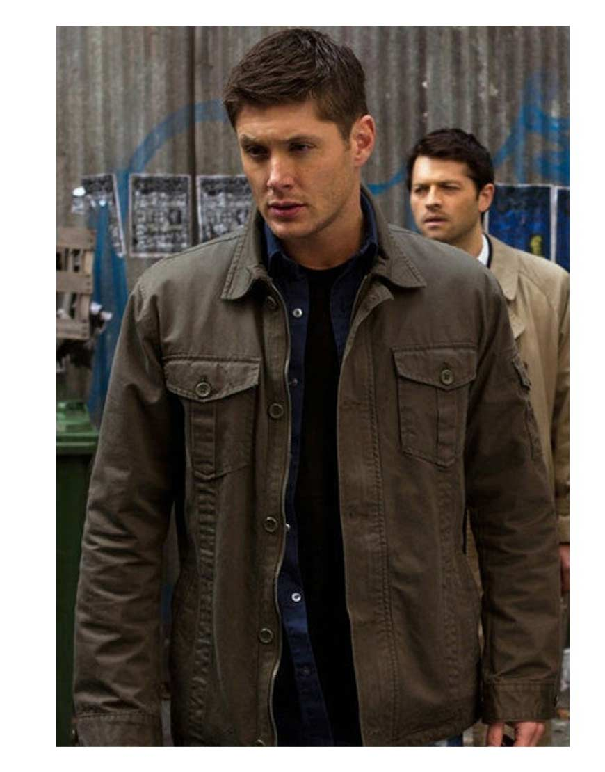 9277a6fe Jensen Ackles Supernatural Dean Winchester Green Jacket - UJackets