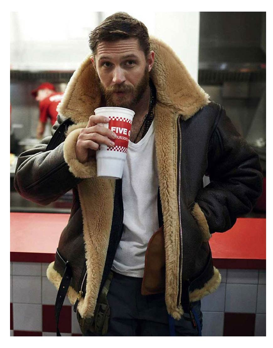 Tom Hardy Shearling Dunkirk Farrier Jacket Ujackets