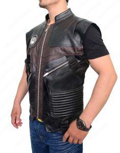 hawkeye leather vest