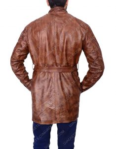 brown leather motorcycle jacket