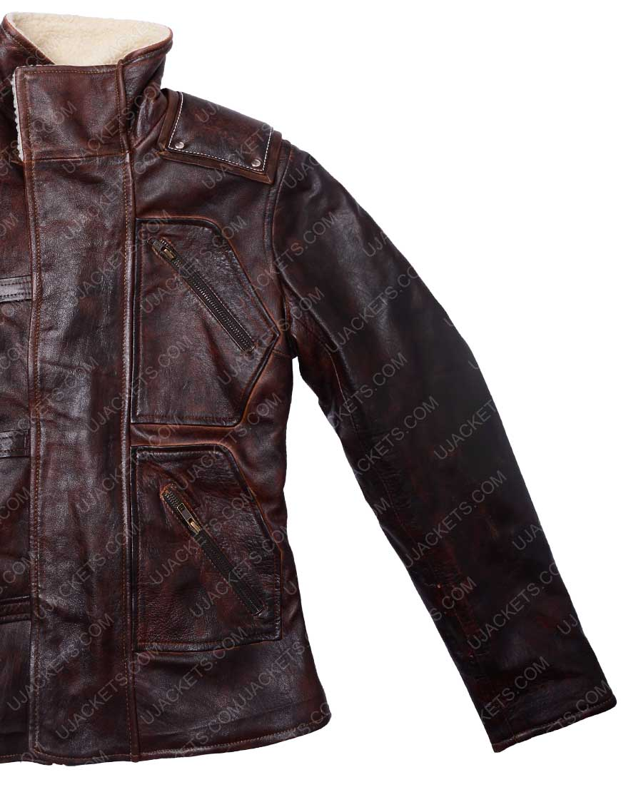 bj blazkowicz brown jacket