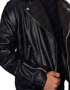 bruce springsteen motorcycle black leather jacket