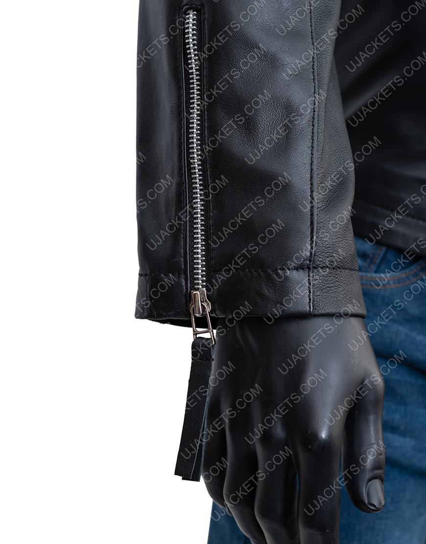 Black Biker Jacket Damian LewisBillionsBobby Axelrod