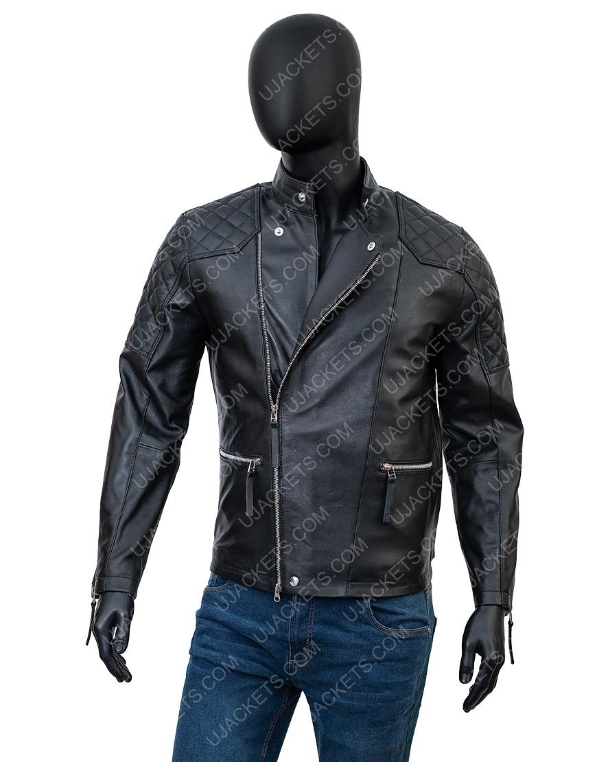 Damian LewisBillionsBobby Axelrod Black Biker Jacket