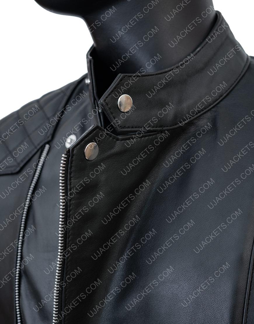 Damian LewisBillionsBobby Black Leather Biker Jacket
