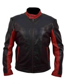 bruce wayne leather jacket